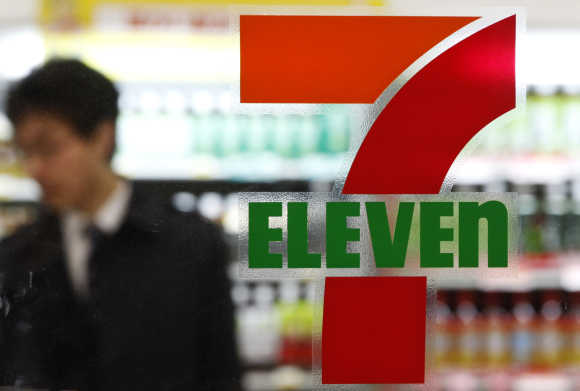 A customer at a 7-Eleven convenience store.