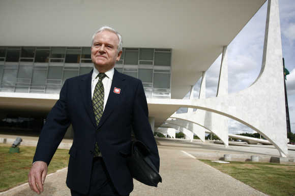 Sir Robert Wilson, Chairman of the BG Group, in Brasilia, Brazil.