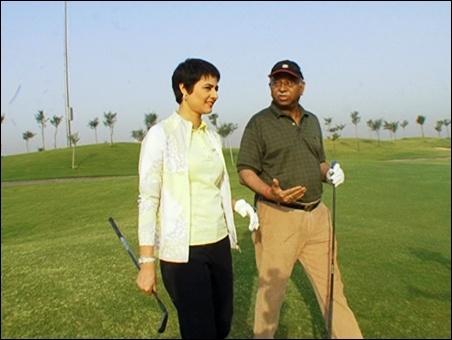 Shaili Chopra with Saurabh Srivastava.