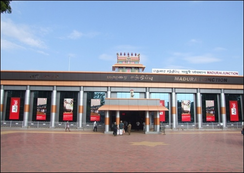 Madurai Railway station.