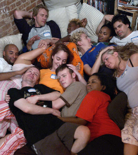 Participants at a Cuddle Party in New York.