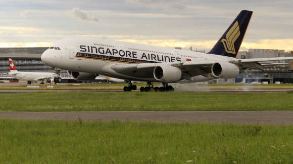 Singapore Airlines operates a hub at Changi Airport.