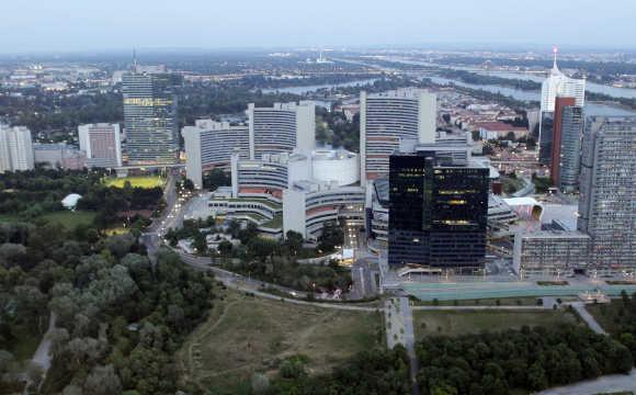 A view of Vienna International Centre and UN headquarters in Vienna.