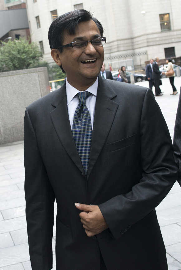 Anil Kumar leaves federal court in New York.
