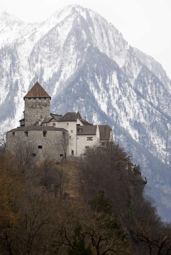 A view shows Liechtenstein's castle in Vaduz.