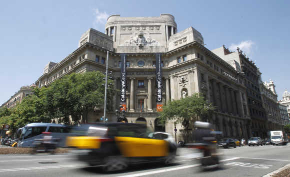 Catalunya Caixa bank headquarters in central Barcelona.