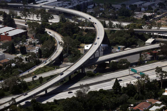 A freeway in Los Angeles.