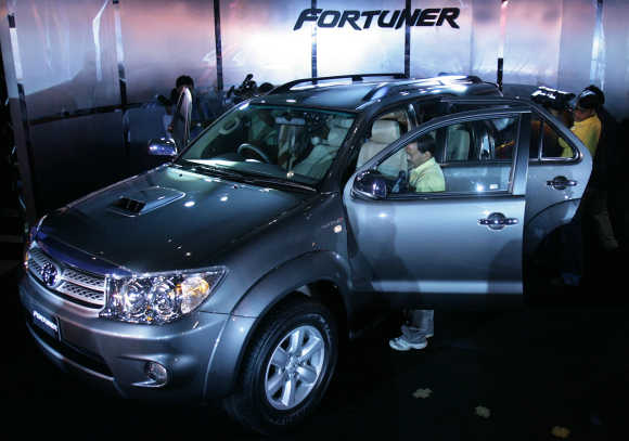 Toyota's Fortuner in New Delhi.
