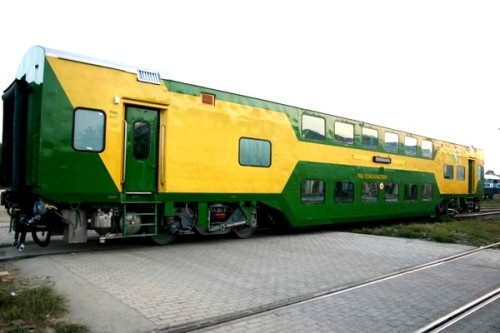 AC double decker train.