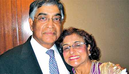 Raj Gupta with his wife Kamla Varshney