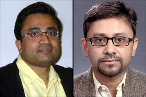 Maitreesh Ghatak, left, and Parikshit Ghosh.