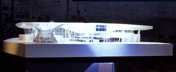 A model of the BMW Welt.