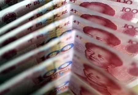 One-hundred Yuan notes are seen in this picture illustration
