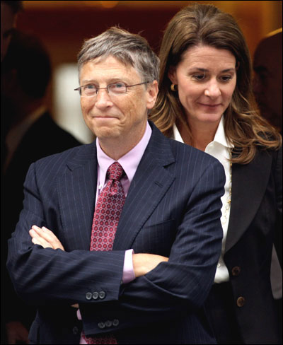 Bill Gates with wife Melinda Gates.