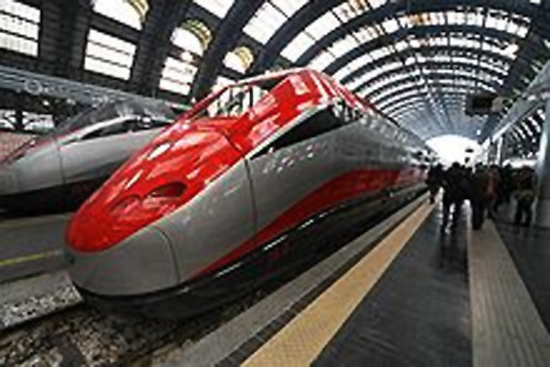 Frecciarossa high speed trains.