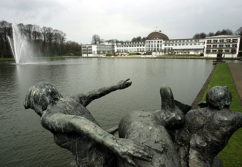 An exterior view shows the Park Hotel in central Bremen, northern Germany.