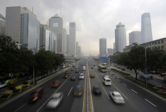 A view of the Beijing's main road.