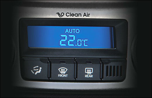 Clean air cluster ionizer of Hyundai i20.