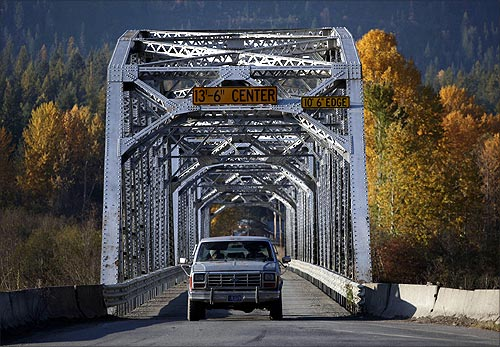 Clark Fork River bridge.