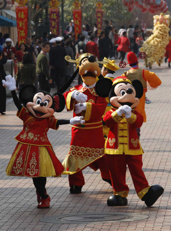 Walt Disney characters in Hong Kong.