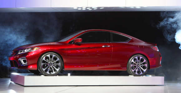 Honda Accord plug-in hybrid concept car is displayed in Detroit.