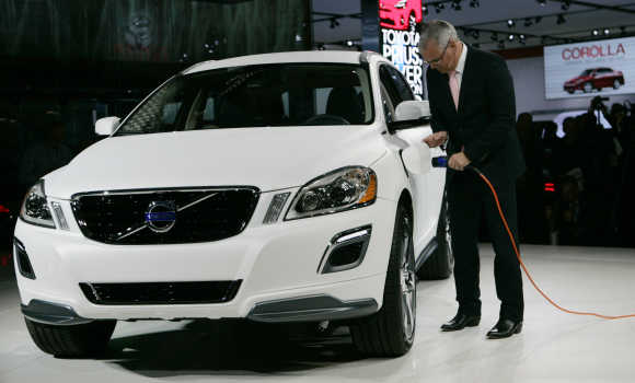 XC60 Plug-In Hybrid Concept is dispalyed in Detroit.