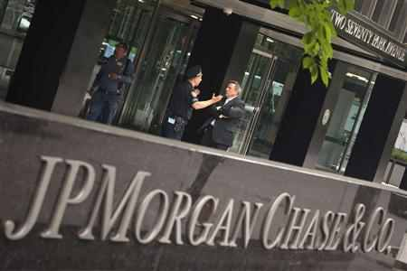 The JP Morgan Chase & Co. headquarters is pictured in New York