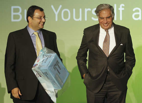 Cyrus Mistry, left, with Chairman Ratan Tata.