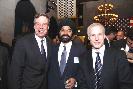 Mark Warner, Ajay Banga, Ron Somers.
