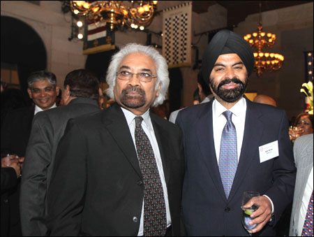 Sam Pitroda with Ajay Banga.