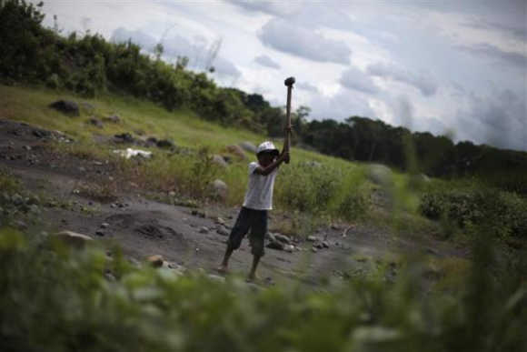 Haunting images of child labour a