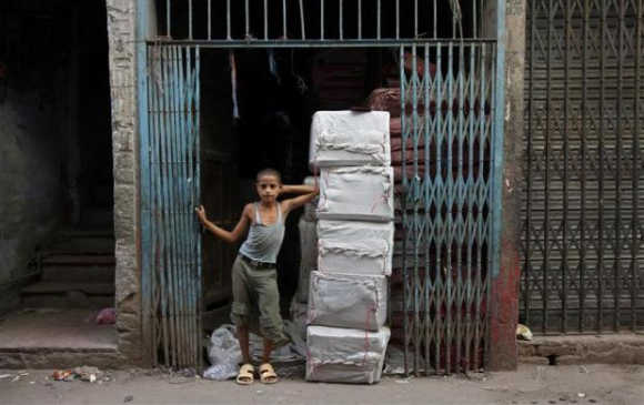 Haunting images of child labour around the world