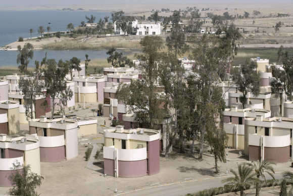 A view of a tourist village of Habaniya, near Fallujah.