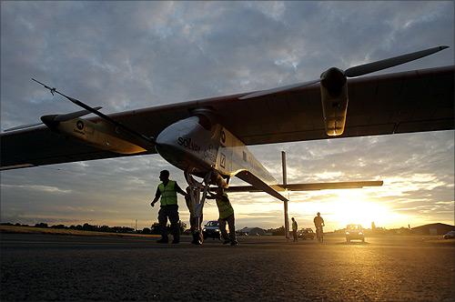 Swiss solar-powered airplane Solar Impulse.