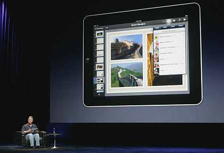Phil Schiller, Senior Vice President of product Marketing for Apple, introduces the iWork publishing application.