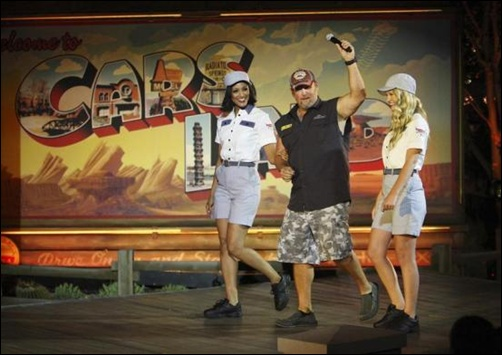 Comedian Larry the Cable Guy attends the grand opening of Cars Land at Disney California Adventure Park in Anaheim, California.