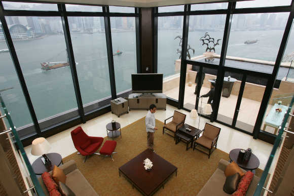 A view of the presidential suite at InterContinental Hong Kong Hotel.