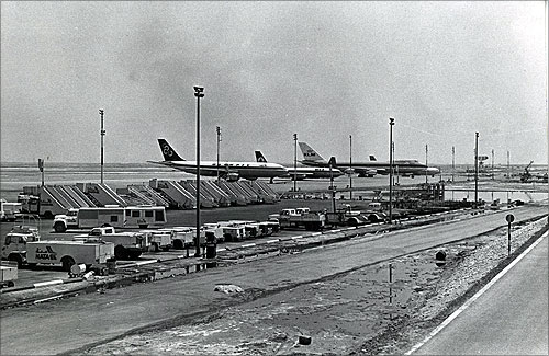 Dubai International Airport during the 1970s.