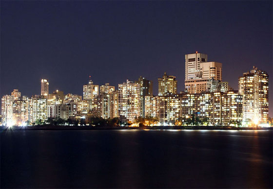 Skyline of Cuffe Parade, South Mumbai.