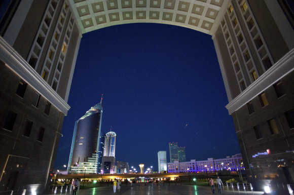 A view of the capital Astana.