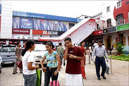 A Big Bazaar outlet.