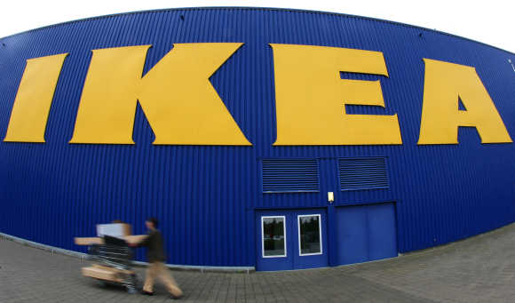 A warehouse of the Swedish furniture maker Ikea