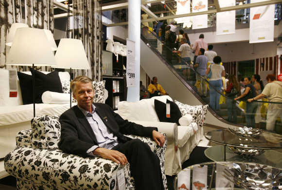 Anders Dahlvig, former CEO of Ikea, poses inside Ikea home furnishing store in Brooklyn, New York. A file photo.