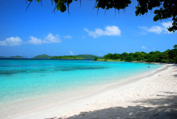 A view of a beach on US Virgin Islands.
