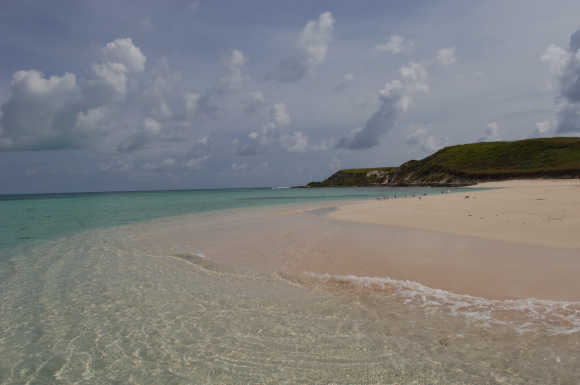 A view of Turks and Caicos.