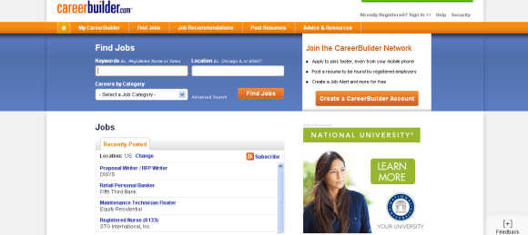 CareerBuilder.com is the largest online employment website in the United States.