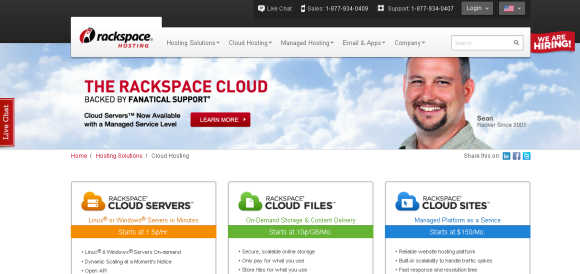 Rackspace is an IT hosting company based in San Antonio, Texas.