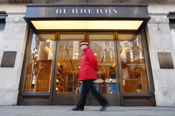 A Burberry shop in London.