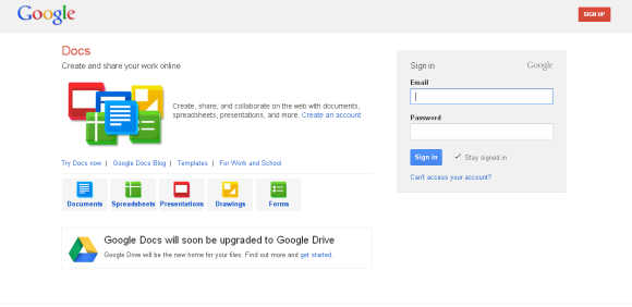 Google Docs was a free, web-based office suite and data storage service.