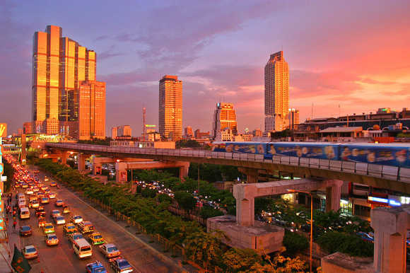 View of Bangkok.